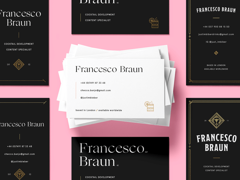 business cards typography