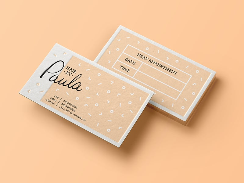 matte appointment business card